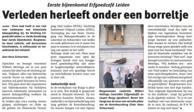 Leids_Nieuwsblad 11-03-15 Erfgoedcafé