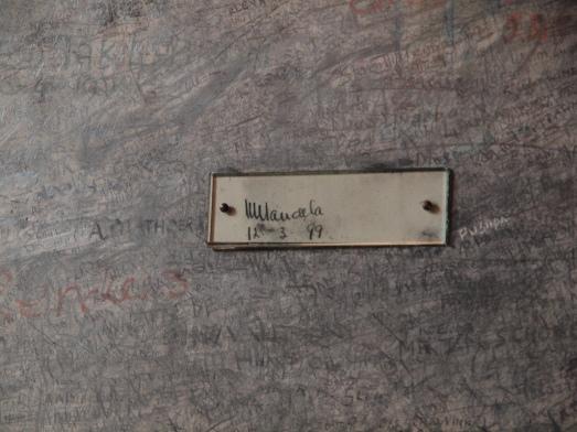 zweetkamertje Mandela